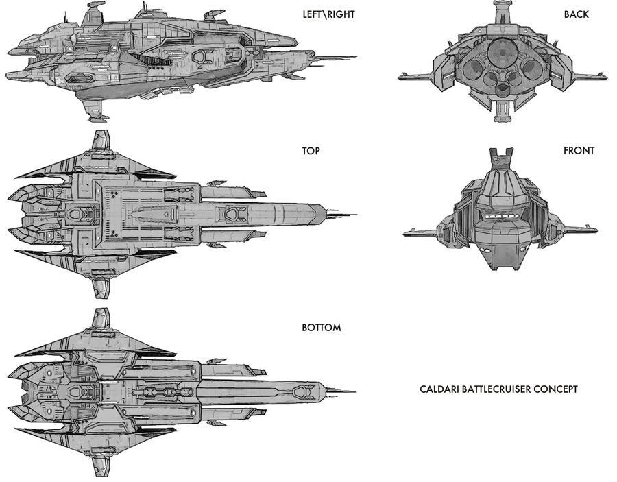 Caldari Battlecruiser Concept by JetHeart