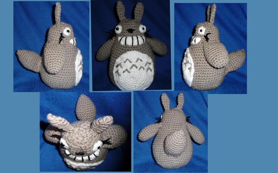 Amigurumi Totoro : Amigurumi totoro alt views by jigglytofu on deviantart
