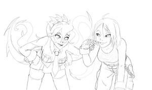 ArcadeWIP - Skullgirls Filia + Rival Schools Akira by Aphius