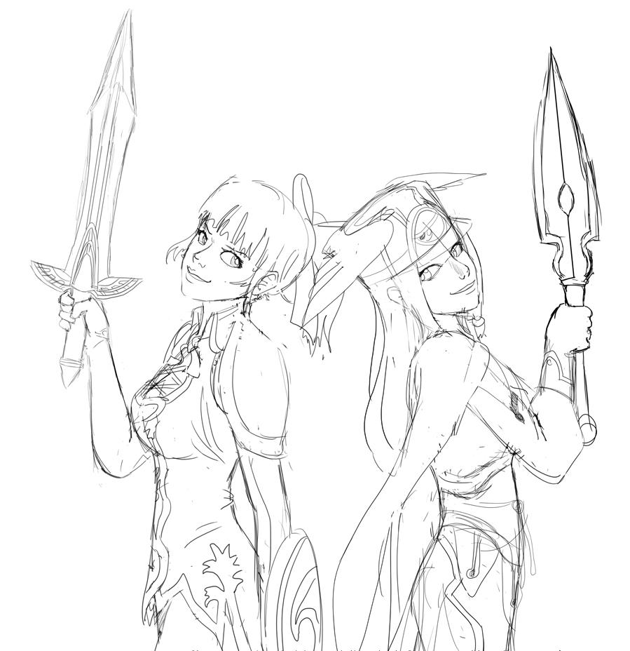 ArcadeWIP - SC Cassandra + BB Tsubaki by Aphius