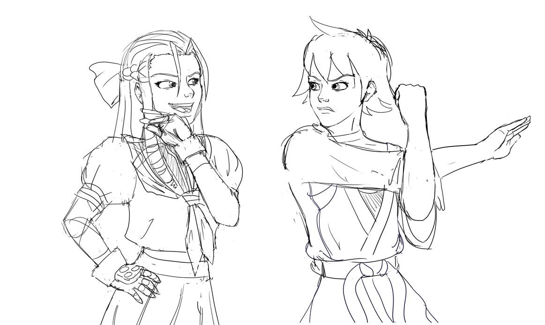 ArcadeWIP - Street Fighter - Karin and Makoto by Aphius