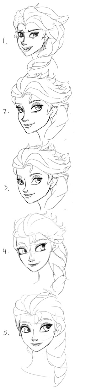First 5 Elsa Sketches by Aphius