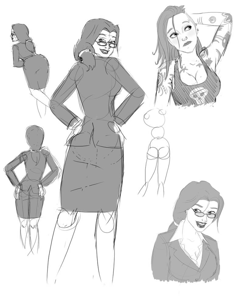 Punk Biz Sketches by Aphius