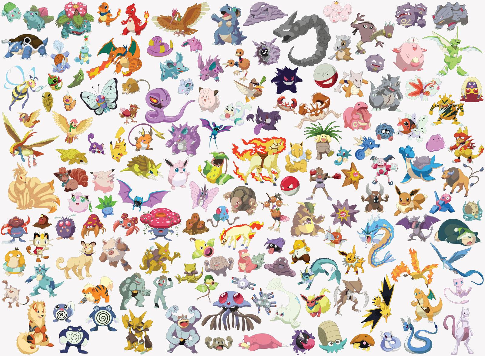 151 Kanto Pokemon