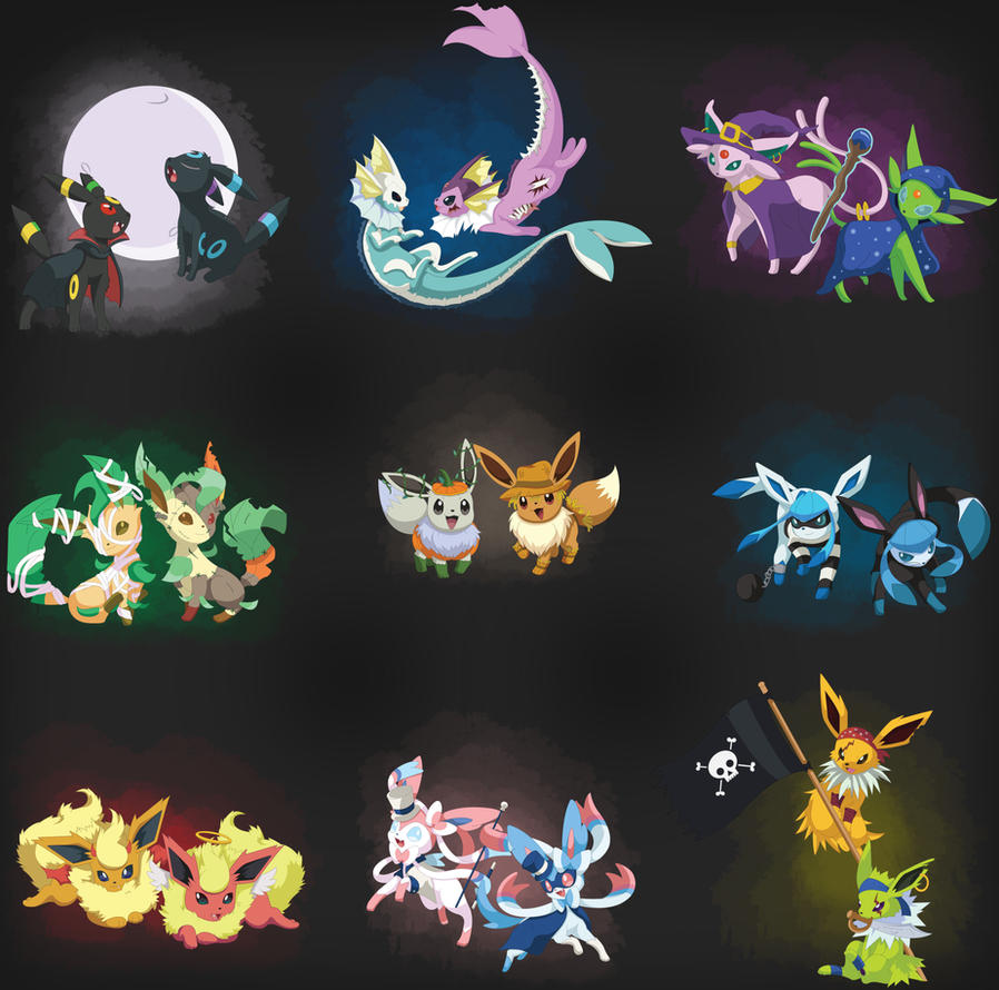 Simple Wallpaper Halloween Eevee - eeveelutions__halloween_edition__by_spd243-d9ezhhx  Graphic_299981.jpg