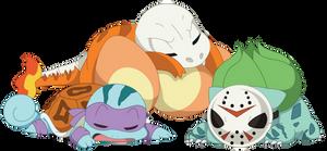 Kanto Starters (Halloween Edition)