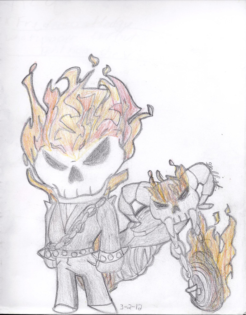 how to draw chibi chibi and ghost rider