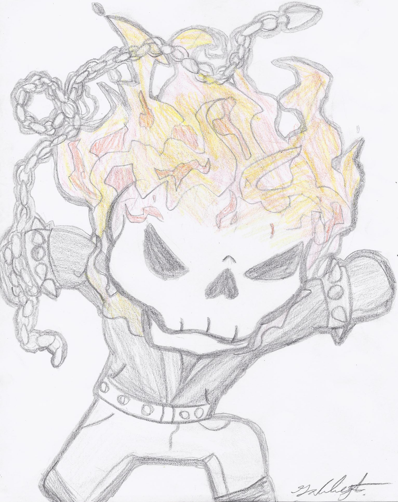 Chibi Ghost Rider pic 2 by GabbyGerbs on DeviantArt