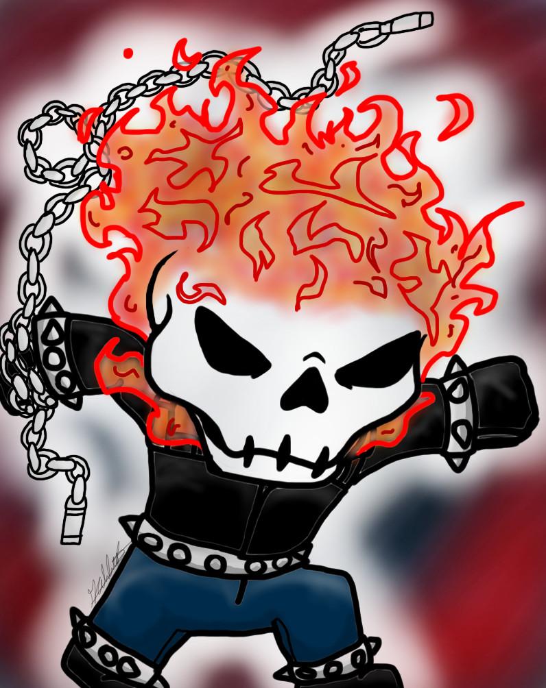 Chibi Ghost Rider by Gabbyartisto3o on deviantART