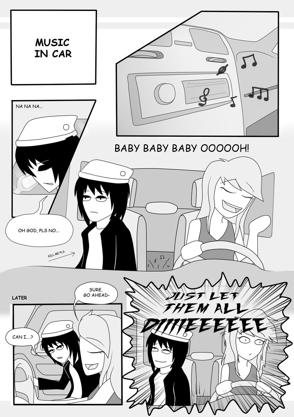 :Page2: Music in car by AlishDark
