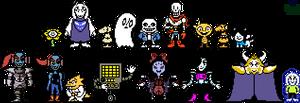 UT - Main cast Battle Overworld Sprites