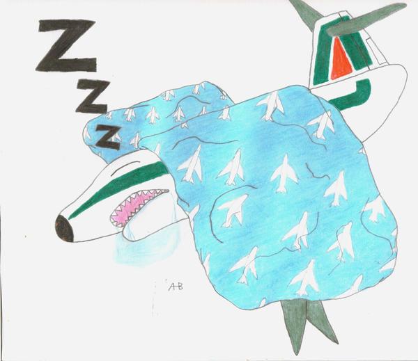 sleeping plane by sharkplane77