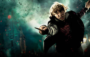 Ron action wallpaper official by HarryPotter645