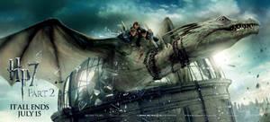 Trio Dragon Escape Banner by HarryPotter645