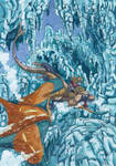 Passing by the Glacier Crevasse by Doragon-Ya