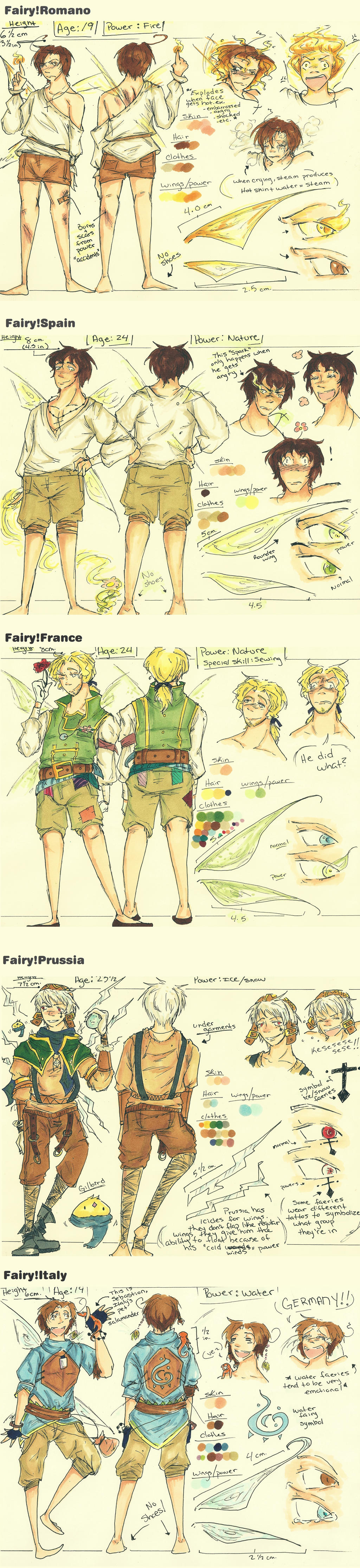 Fairy!Hetalia Character Sheets: PART 1 by edwardsuoh13