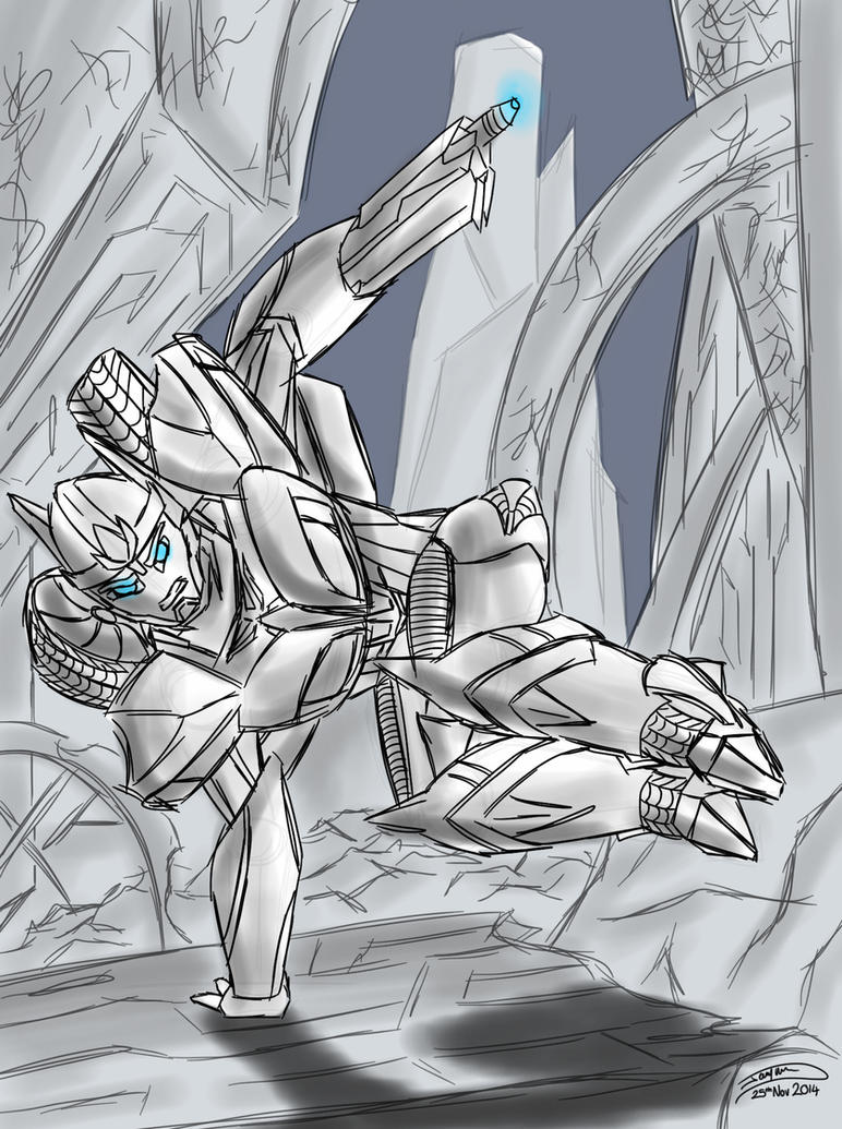 Battle Through Cybertron by Jagna-Q7