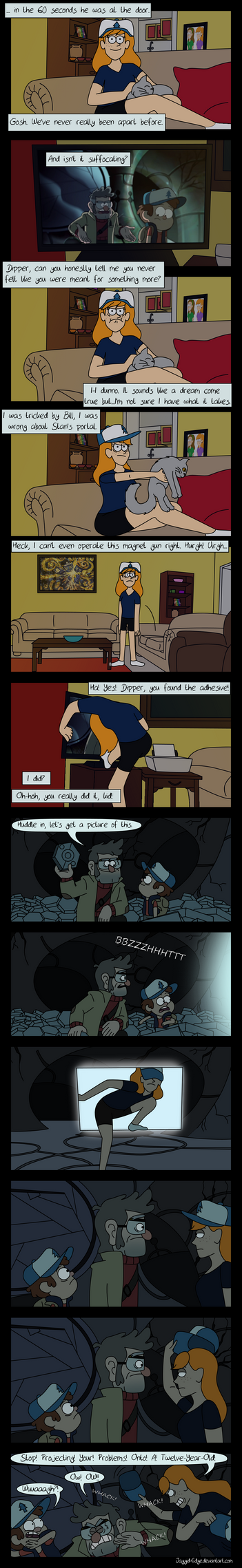 Reaction - Dipper and Mabel Vs. The Future by Jaggid-Edge