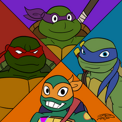 TMNT - Through the Years by Jaggid-Edge