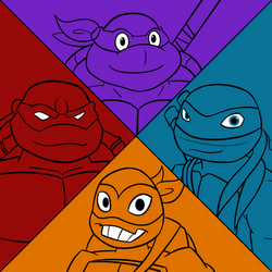 Tmnt Through The Years C by Jaggid-Edge