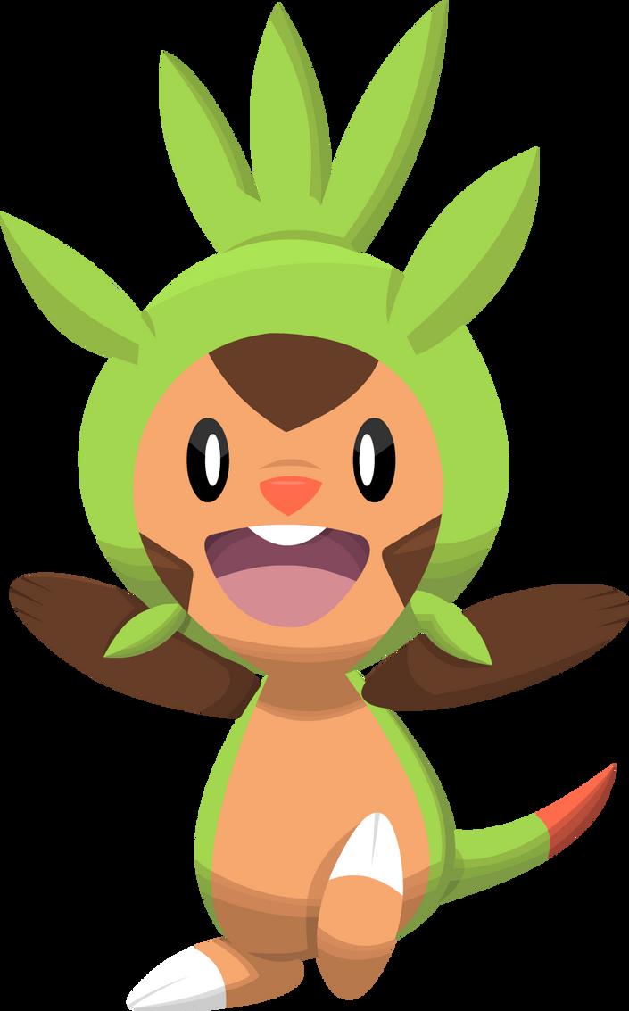 Chespin Pokemon 6th Gen by SuperAj3