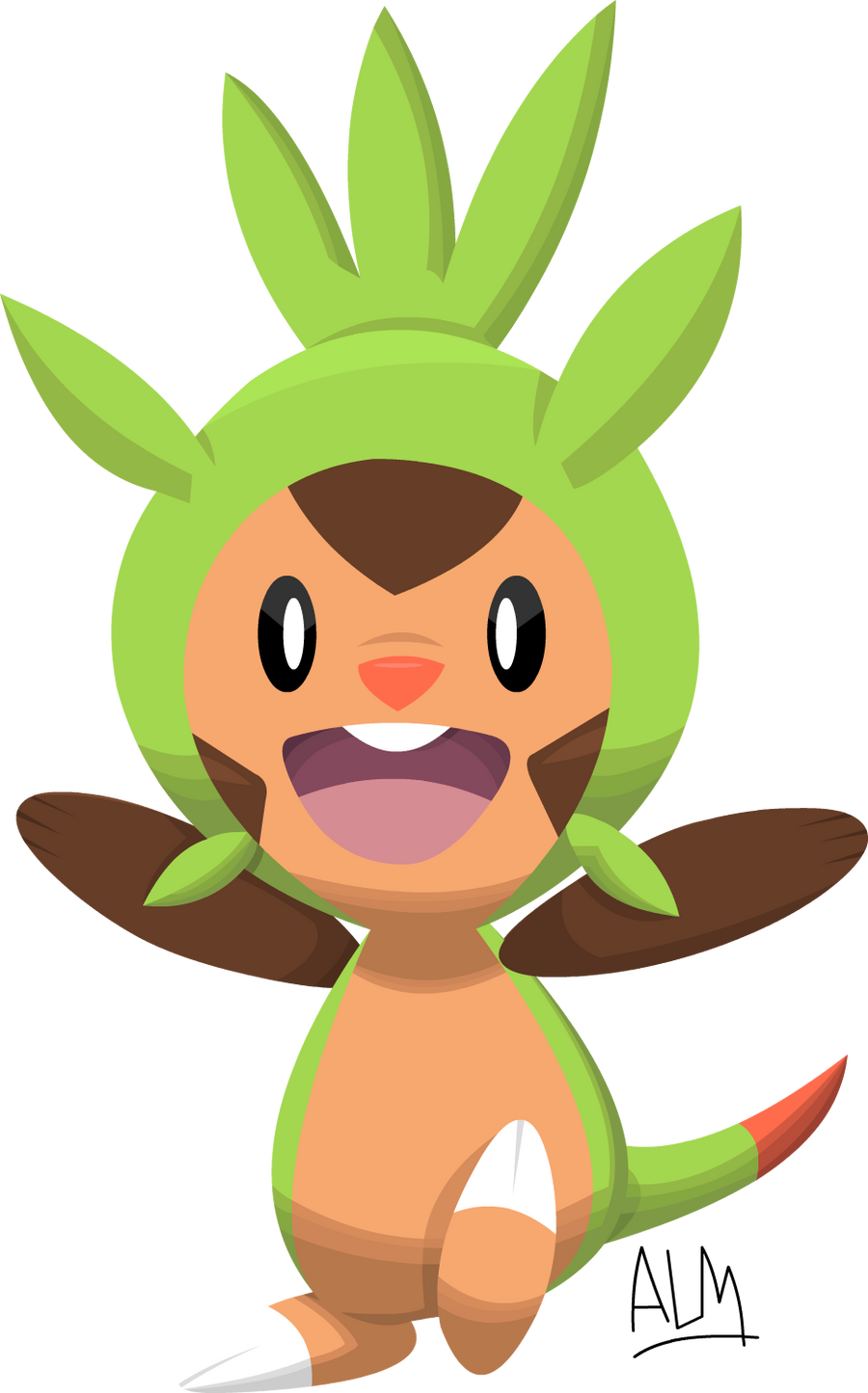 Chespin Pokemon 6th Gen by SuperAj3
