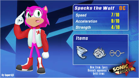 Sonic Forces OC Comp entry - Specks the Wolf