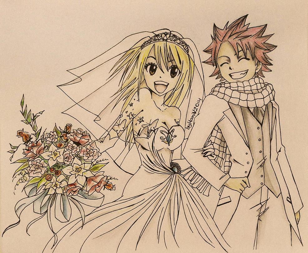 Natsu and Lucy - wedding by HaniVishnevskaya on DeviantArt