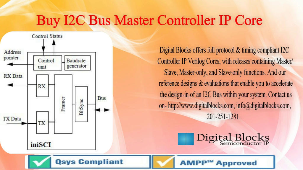 Buy I2C Bus Master Controller, I2C Verilog and I2 by digiblogs1 on