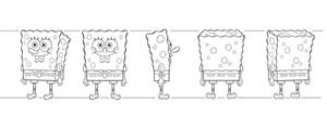 Spongebob Model Sheet  by Sahara-JJ