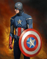 Captain America by johnneh-draws