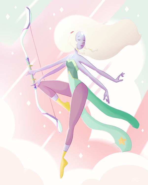Please do not repost, reblog it on tumblr here Also available on Society6 Opal, the graceful beauty Love her. Hope you like it!