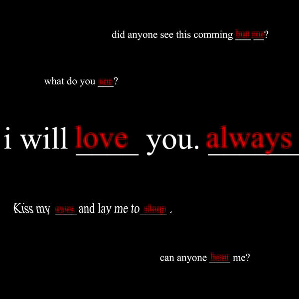 i will love you. always WALL by nejixtentenxforever