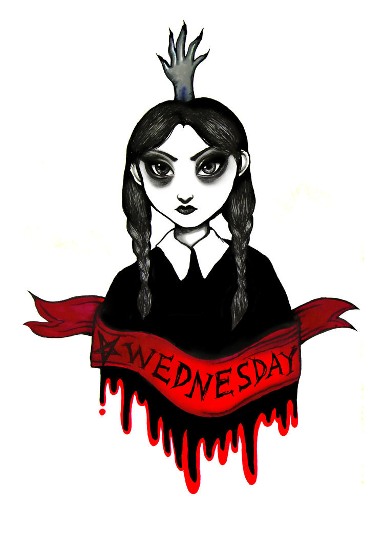 Wednesday Addams by spiderlily-studio