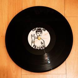 Spock - Vinyl Clock by spiderlily-studio
