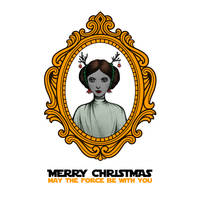 Star Wars Princess Leia Christmas Card