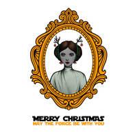 Star Wars Princess Leia Christmas Card