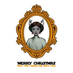 Star Wars Princess Leia Christmas Card by spiderlily-studio