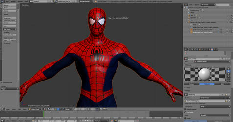 Spider-Man: Into The Spider-Verse Suit Model WIP by FlameJR