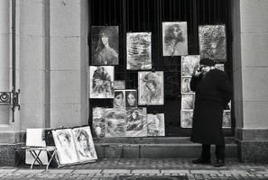 Artist, Arbat, Moscow by choeba