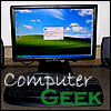 Computer geek icon