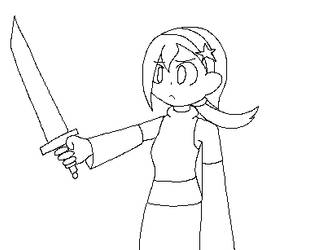 Pull the blade out of her