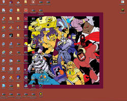 A desktop full of doofs