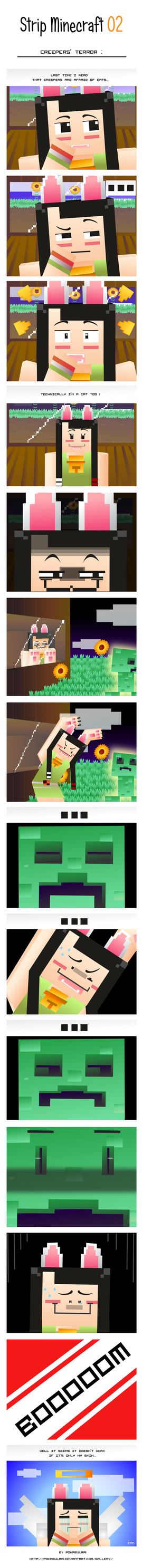 minecraft strip 02 a terror for creepers