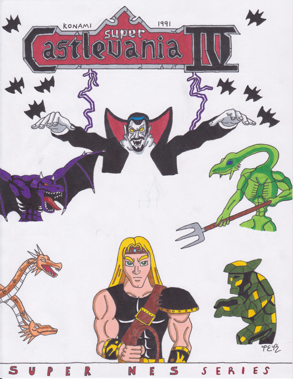 Super NES Series: Super Castlevania IV by NinjaDude719