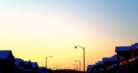 The Sunset Symmetryof Suburbia by kawaiixoxsmiles
