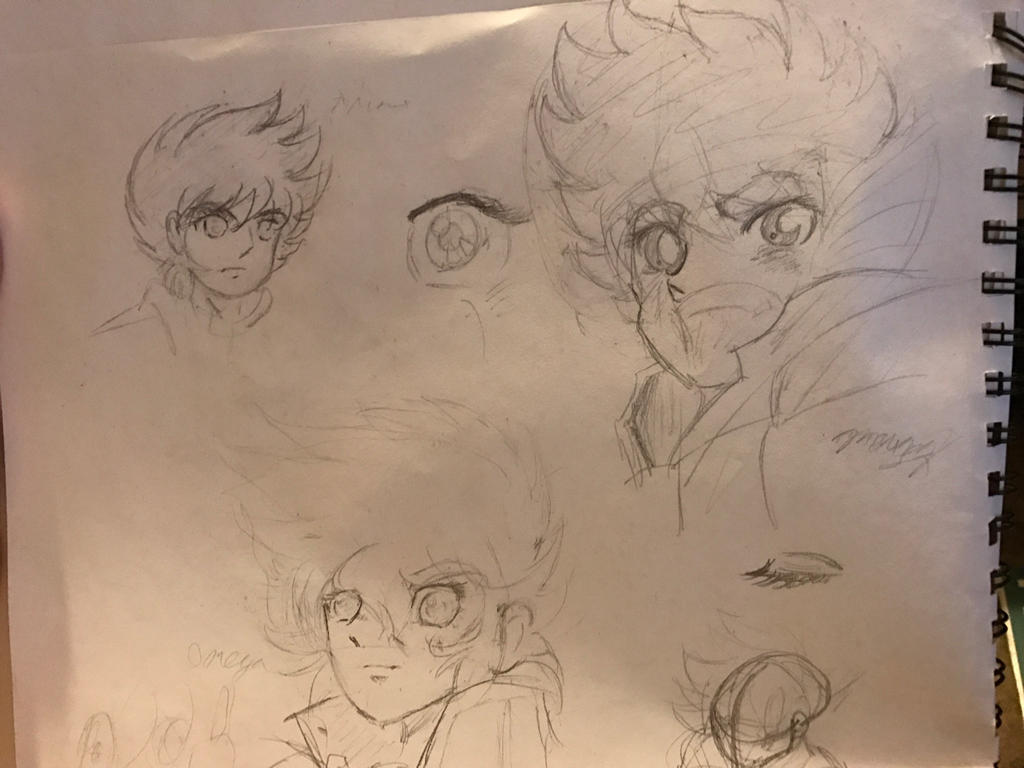 Rough doodles of Seiya by MyHeartisanOpenBook
