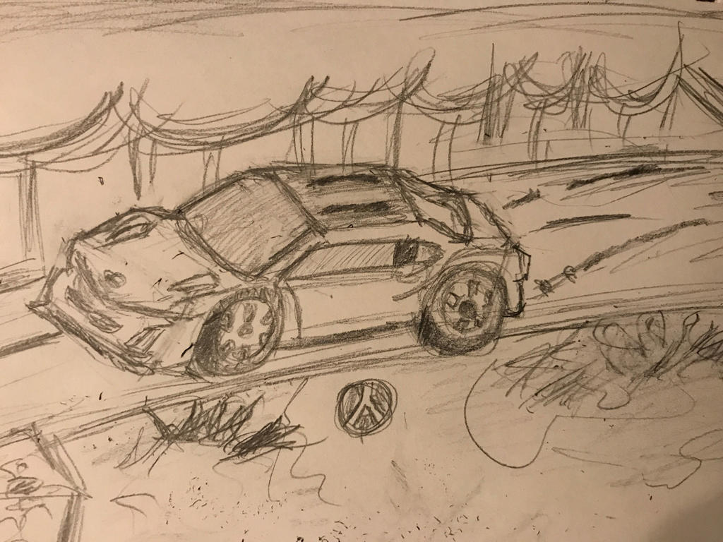 Acura NSX Sketch by MyHeartisanOpenBook