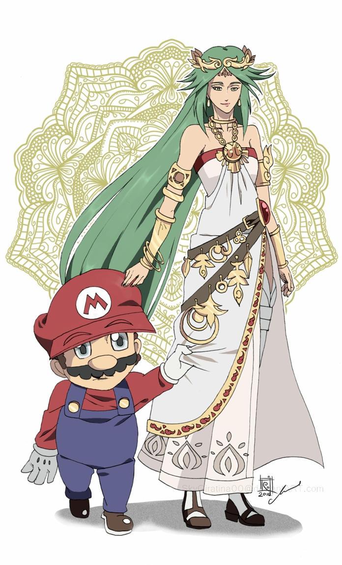 COMM Mario And Palutena By SkyGiratina00 On DeviantArt