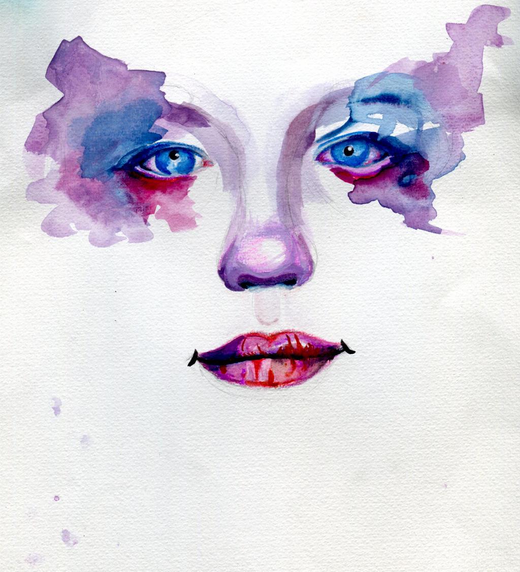 teary watercolour by Redaer636XT